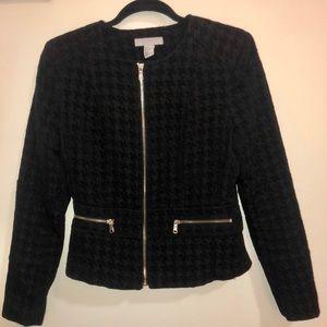 Black Houndstooth H&M Jacket Blazer